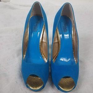 Charlotte Russe Shoes - Charlotte Russe Blue Suede Stilettos